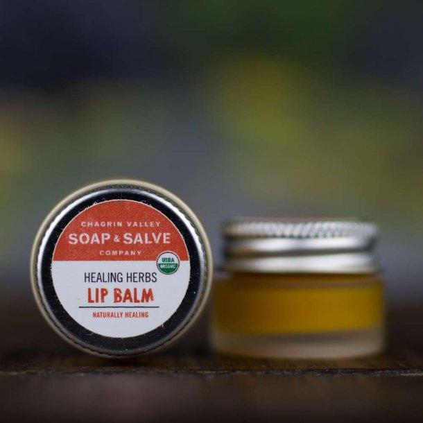 Chagrin Valley organic lip balm Healing Herbs: øko læbebalsam med helende  urter til sprukne læber